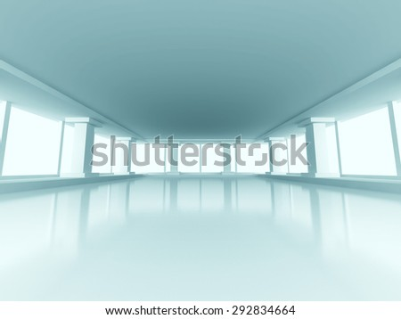 Abstract Modern Indoor Interior Architecture Background. 3d Render Illustration - stock photo
