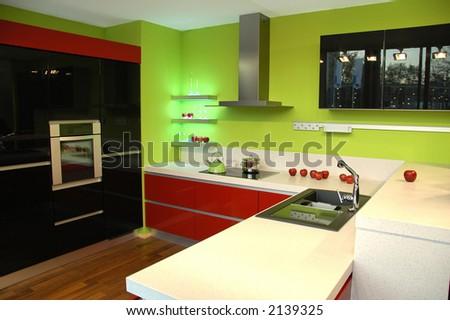Abstract modern Kitchen - stock photo