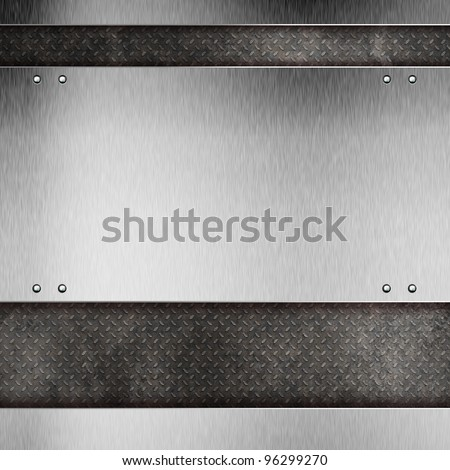 Abstract modern metal background - stock photo