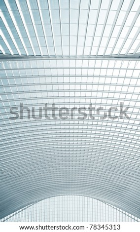 Abstract modern roof pattern with concrete arches