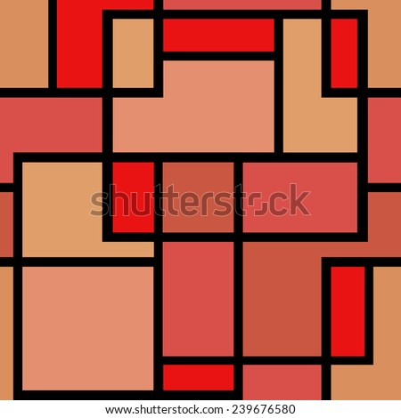 Abstract modern squares seamless pattern texture retro red olors background