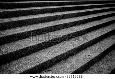 Abstract modern   staircase  black and white
