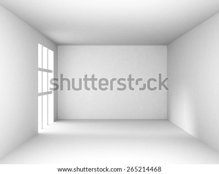 Abstract Modern White Interior Background. 3d Render Illustration - stock photo