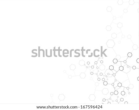 Abstract molecular structure background