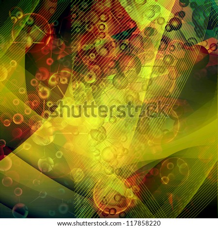 abstract Molecule background - stock photo