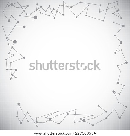 Abstract molecule silver white background   - stock photo