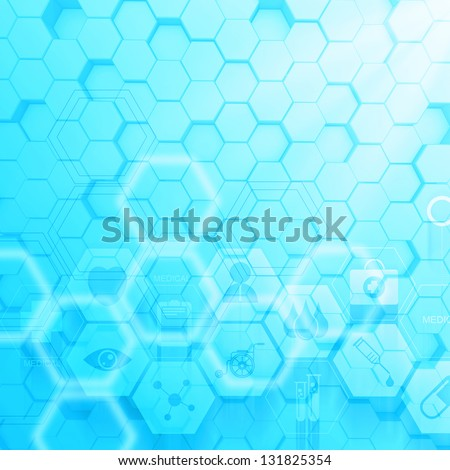 Abstract molecules medical background concept - stock photo