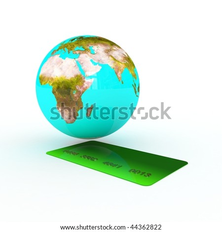 abstract money concept with earth
