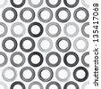 abstract monochrome circle seamless texture (raster version) - stock photo