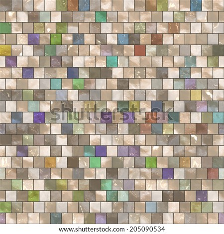 Abstract mosaic ceramic seamless texture background illustration.