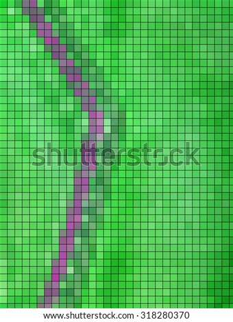 abstract mosaic grid squares and green color.illustration