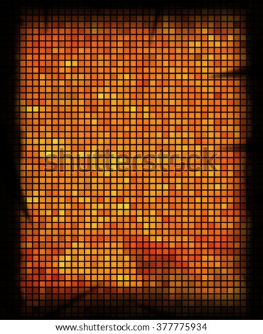 abstract mosaic grid squares and yellow color.illustration
