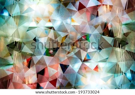 Abstract mosaic : night pattern style - stock photo