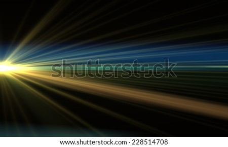 Abstract Motion Background With Lens Flares and pinch effect