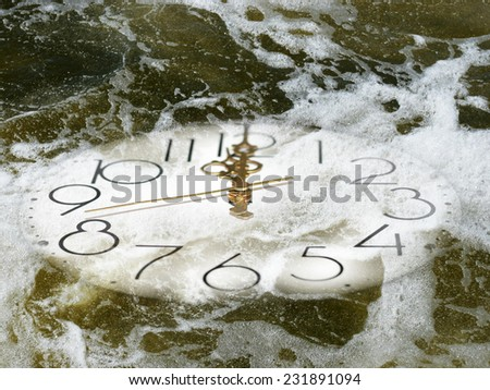 abstract motion of time - stock photo