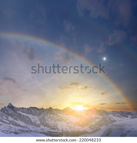 Abstract Mountain View - stock photo