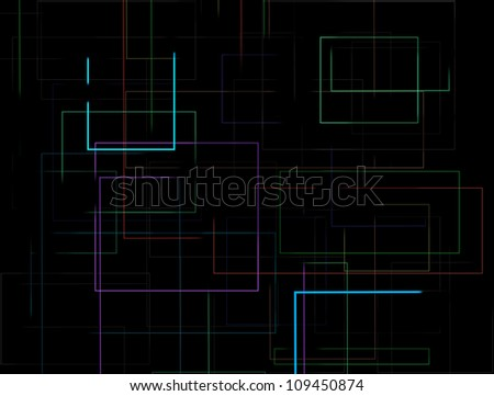 abstract multi color line background