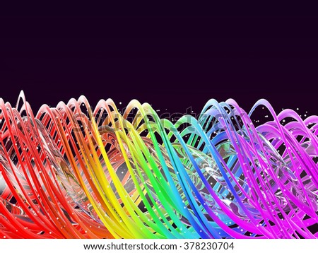 rainbow color twisted waves - photo #9