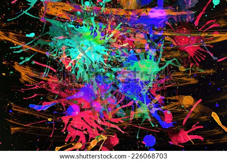abstract multi   coloron black  background