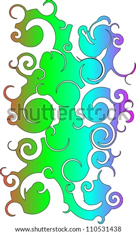 Abstract multi-coloured composition - stock photo
