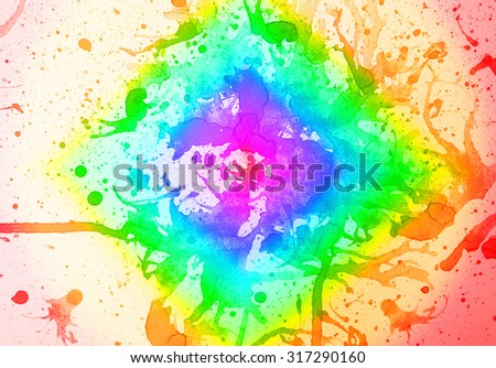abstract  multicolor background  from water color