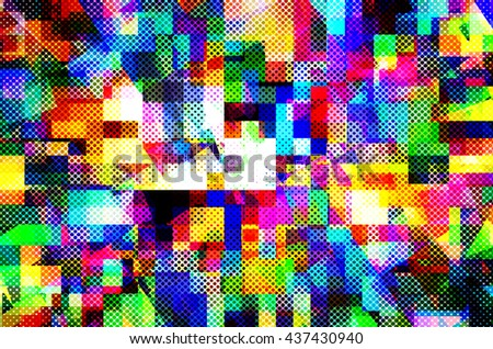 abstract  multicolor   background with square pattern