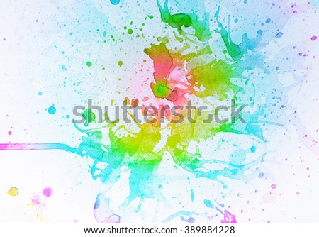 abstract multicolor background with square pattern and water color