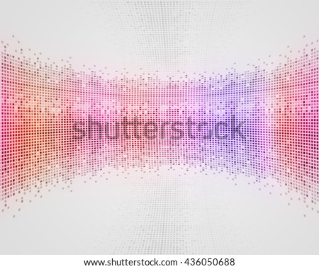 abstract multicolor disco music poster for party events - stock photo