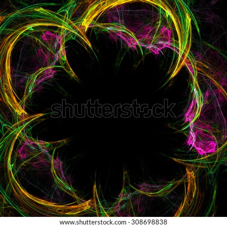 Abstract Multicolor Frame Illustration - stock photo