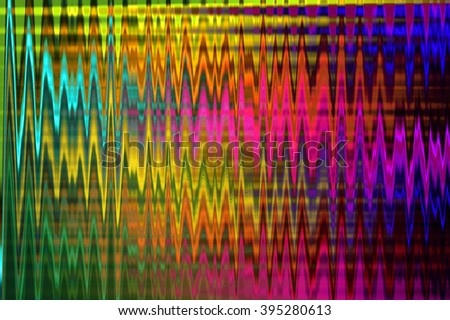abstract multicolor futuristic stripe background design with motion wave