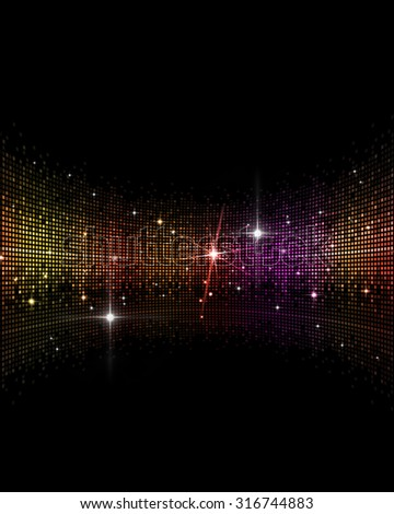 abstract multicolor music disco party events background