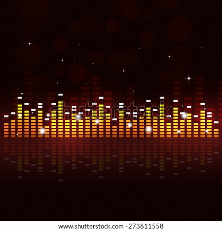 abstract multicolor music equalizer background for active parties