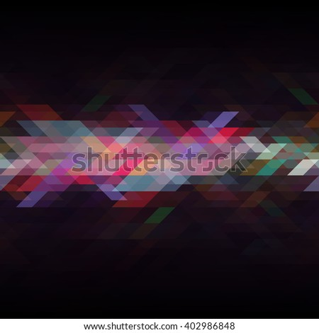 Abstract multicolor triangle geometrical background.