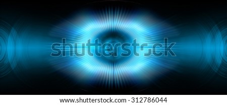 Abstract multicolored background. blue radial blur, streaks of light, sunburst or starburst. Rays of light. Digitally generated image. Acrylic painting with a zoom effect. - stock photo
