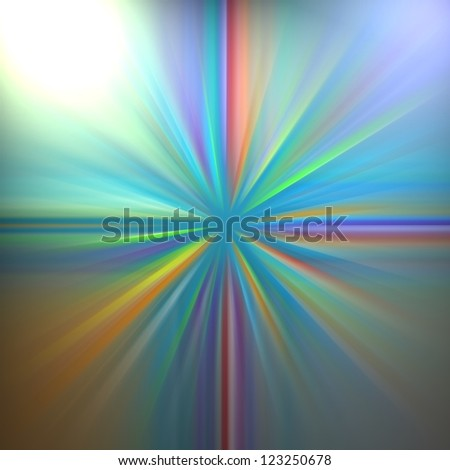 abstract multicolored background colorful design, streaks of light in beams rays or fan shaped style, sunburst or starburst blended blur of colors for website sidebar or header or brochure, blue green
