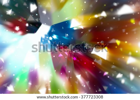 abstract multicolored background. fractal explosion star with gloss and lines - stock photo