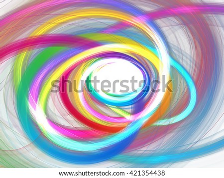 abstract multicolored circles - stock photo