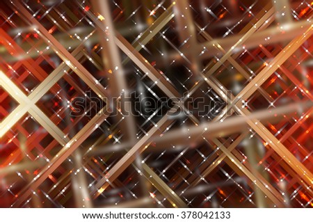 Abstract multicolored fractal background with various color lines and strips