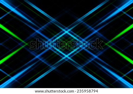 Abstract multicolored fractal background with various neon lines - stock photo