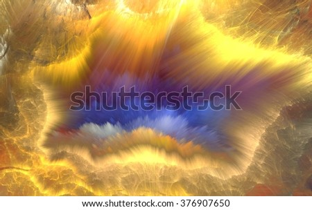 Abstract multicolored fractal composition. Magic explosion star