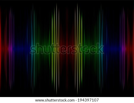 Abstract multicolored sound equalizer as background.Digitally generated image.