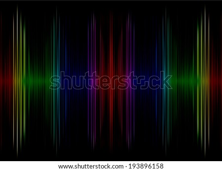 Abstract  multicolored sound equalizer display as background.Digitally generated image. - stock photo