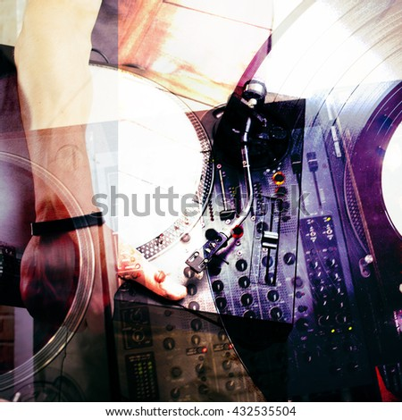 Abstract music background - stock photo