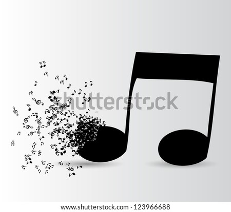 Abstract music background   Raster version illustration for your design - stock photo