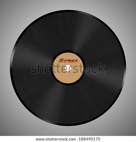 Abstract music background. Vinyl disk - stock photo