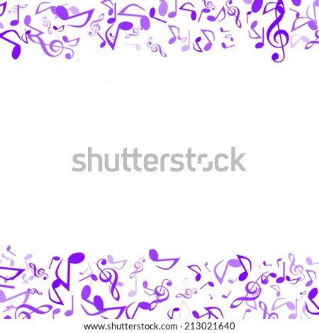 Abstract music note on white background