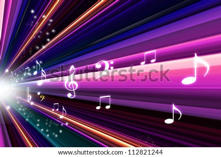 abstract music notes design for music background use - stock photo