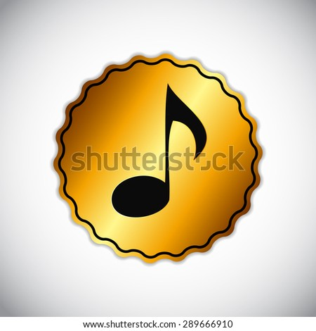 Abstract Music Sign  Illustration for Your Design - stock photo