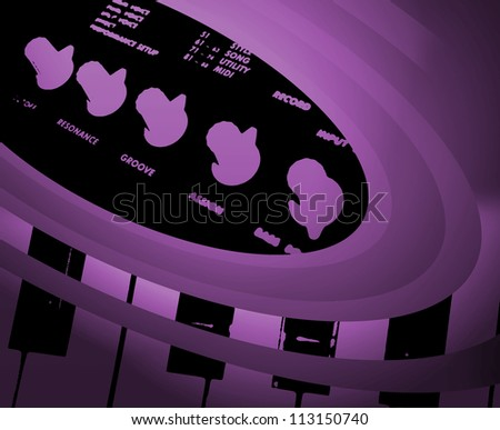 Abstract Musical keyboard background image