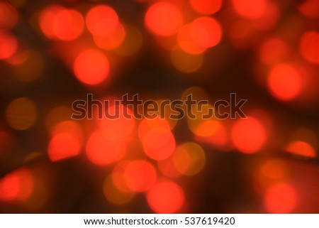 Abstract natural background, Christmas tree decoration, lights, Happy New Year